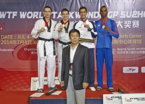 CHINESE TAIPEI, KOREA, ISLE OF MAN CLINCH 1 GOLD MEDAL EACH ON 2ND DAY OF 2014 WTF WORLD TAEKWONDO GRAND PRIX SERIES IN SUZHOU, CHINA